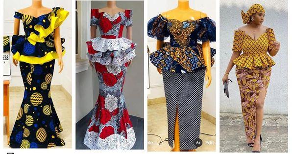 Trending Ankara Skirt & Blouse Styles